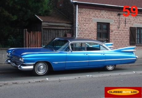 location cadillac deville sedan 1959 bleue 1959 bleue halluin. Black Bedroom Furniture Sets. Home Design Ideas