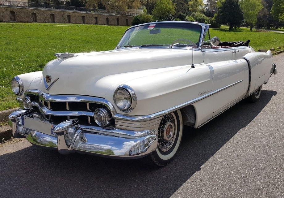 Location Cadillac série 62 1950 blanche 1950 blanche asnieres sur oise