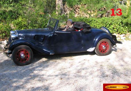 location citroen traction 11bl cabriolet 1939 bleu 1939 bleu aix en provence. Black Bedroom Furniture Sets. Home Design Ideas
