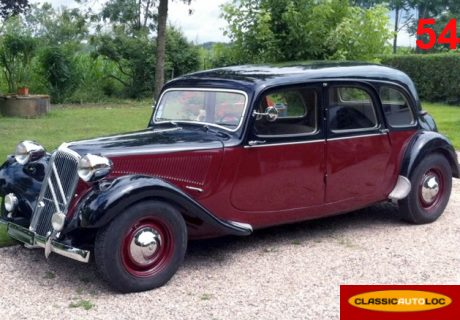 location citroen traction 11c 1955 noir bordeaux 1955 noir. Black Bedroom Furniture Sets. Home Design Ideas