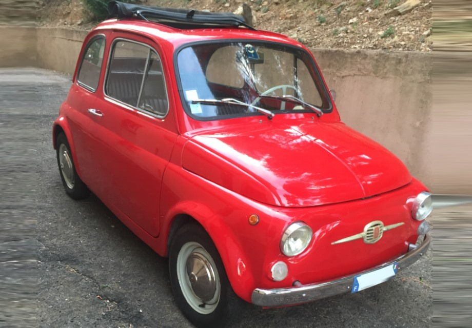 Location fiat 500 1968 rouge 1968 rouge cergy for Garage pf autos sa cergy