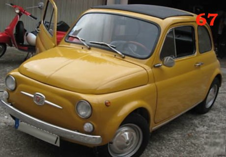 location fiat 500 1972 jaune 1972 jaune strasbourg. Black Bedroom Furniture Sets. Home Design Ideas