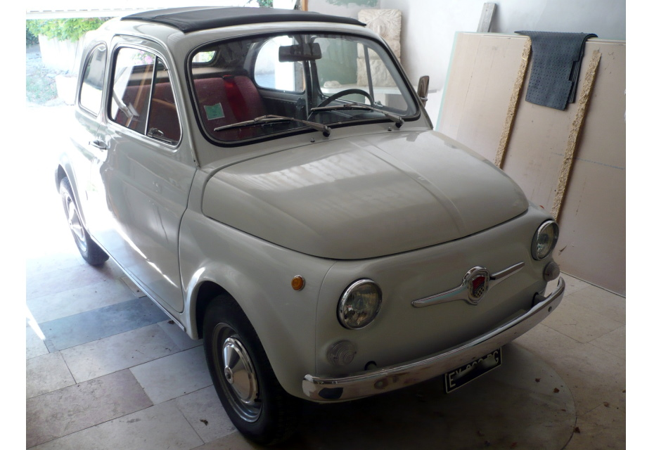 location fiat 500 abarth 595 replica 1967 blanc 1967 blanc. Black Bedroom Furniture Sets. Home Design Ideas