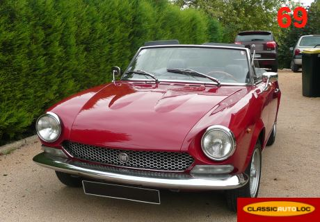 location fiat spider 124 1973 1973 rouge st germain au mont d 39 or. Black Bedroom Furniture Sets. Home Design Ideas