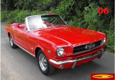 location ford mustang 1965 rouge 1965 rouge nice. Black Bedroom Furniture Sets. Home Design Ideas
