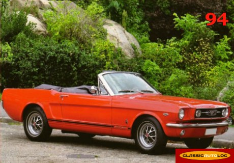 location ford mustang 1966 rouge 1966 rouge creteil. Black Bedroom Furniture Sets. Home Design Ideas