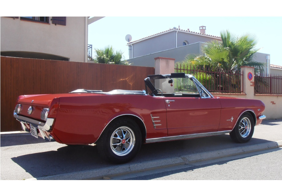 location ford mustang 1966 rouge 1966 rouge argeles sur mer. Black Bedroom Furniture Sets. Home Design Ideas
