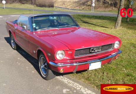 location ford mustang 1966 rouge 1966 rouge lachapelle saint pierre. Black Bedroom Furniture Sets. Home Design Ideas