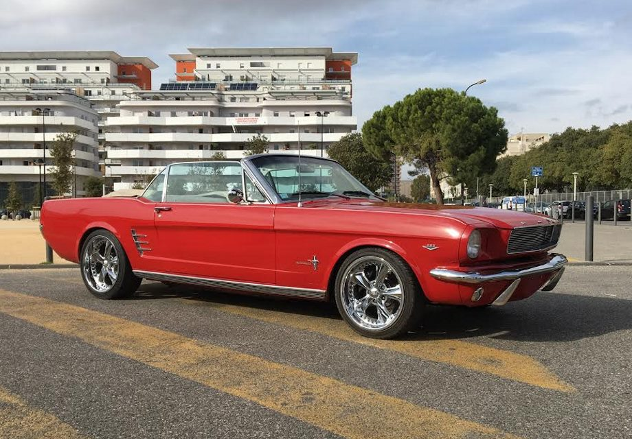 location ford mustang 1966 rouge 1966 rouge marseille. Black Bedroom Furniture Sets. Home Design Ideas