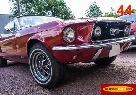 location ford mustang 1967 rouge 1967 rouge carquefou. Black Bedroom Furniture Sets. Home Design Ideas