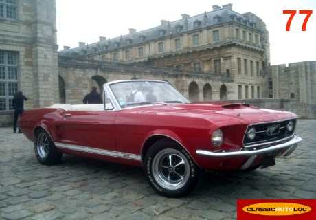location ford mustang 1967 rouge 1967 rouge avon. Black Bedroom Furniture Sets. Home Design Ideas