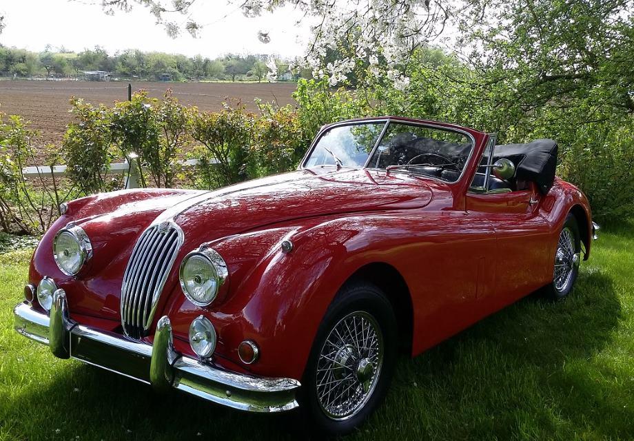 location jaguar xk 140 1955 rouge 1955 rouge gouvernes. Black Bedroom Furniture Sets. Home Design Ideas