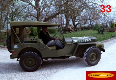location jeep willys 1945 vert 1945 vert andernos. Black Bedroom Furniture Sets. Home Design Ideas