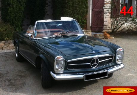 location mercedes 250 sl 1967 verte 1967 verte nantes. Black Bedroom Furniture Sets. Home Design Ideas