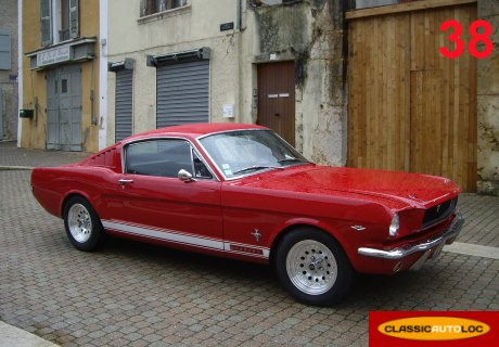 location ford mustang 1966 rouge 1966 rouge grenoble. Black Bedroom Furniture Sets. Home Design Ideas