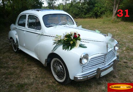 Location peugeot 203 1954 blanc 1954 blanc toulouse for Location voiture garage peugeot