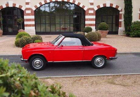 location peugeot 304 s cabriolet 1974 rouge 1974 rouge ecully. Black Bedroom Furniture Sets. Home Design Ideas