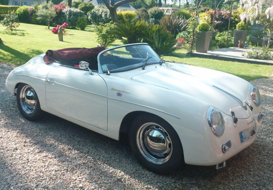 location porsche 356 speedster 1957 blanc 1957 blanc vannes. Black Bedroom Furniture Sets. Home Design Ideas