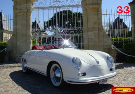 location porsche pgo 356 speedster 1969 blanc 1969 blanc bordeaux. Black Bedroom Furniture Sets. Home Design Ideas