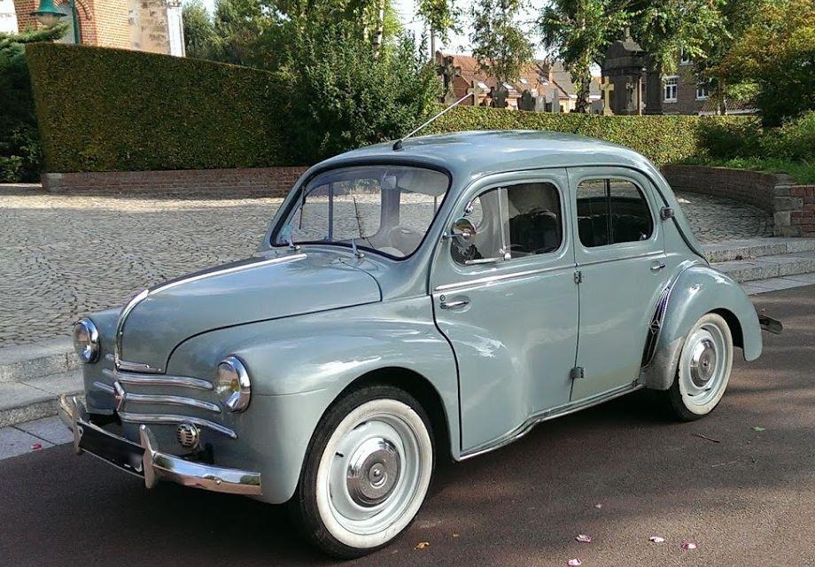 Location renault 4cv 1062 1958 gris pompadour 1958 gris for Garage peugeot la madeleine
