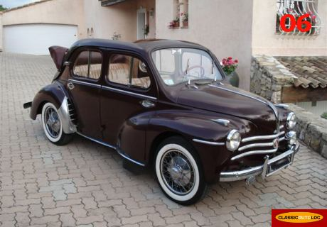 location renault 4cv d couvrable 1954 marron 1954 marron cagnes sur mer. Black Bedroom Furniture Sets. Home Design Ideas