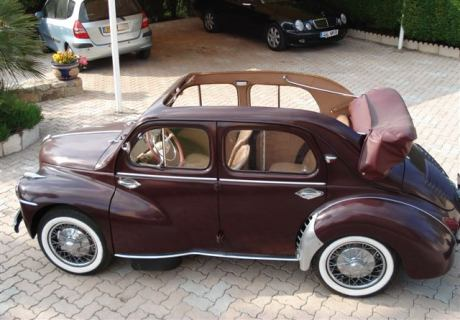 location renault 4cv d couvrable 1954 marron 1954 marron. Black Bedroom Furniture Sets. Home Design Ideas