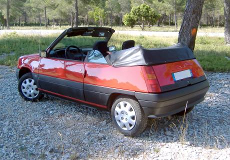 location renault 5 cabriolet 1989 1989 rouge toulon. Black Bedroom Furniture Sets. Home Design Ideas