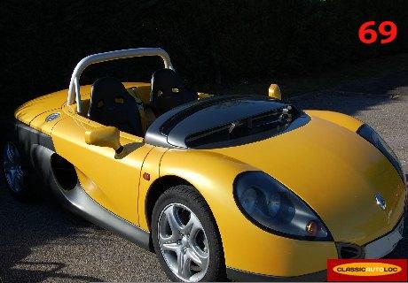 location renault spider 1996 jaune 1996 jaune lyon. Black Bedroom Furniture Sets. Home Design Ideas