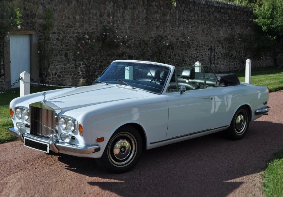 location rolls royce corniche cabriolet 1971 blanc 1971. Black Bedroom Furniture Sets. Home Design Ideas