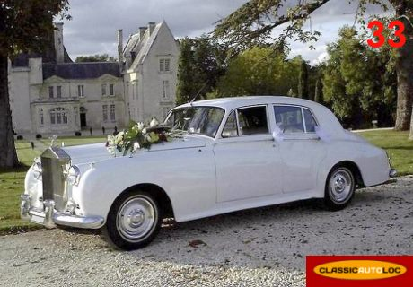 location rolls royce silver cloud i 1956 blanc 1956 blanc cenon. Black Bedroom Furniture Sets. Home Design Ideas