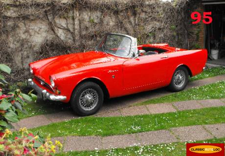 location sunbeam alpine 1965 rouge 1965 rouge argenteuil. Black Bedroom Furniture Sets. Home Design Ideas