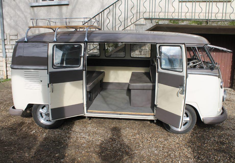Location volkswagen combi split 1965 beige gris 1965 beige for Interieur combi vw