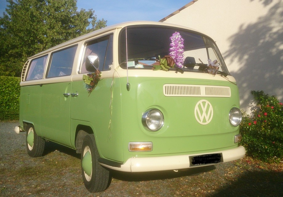 volkswagen combi t2a 1970 vert pistache - Location Combi Volkswagen Mariage