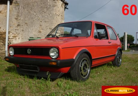 location volkswagen golf 1 rabbit 1983 rouge 1983 rouge. Black Bedroom Furniture Sets. Home Design Ideas