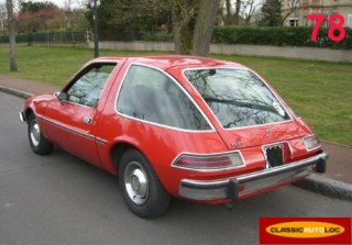 Amc pacer 1976 rouge