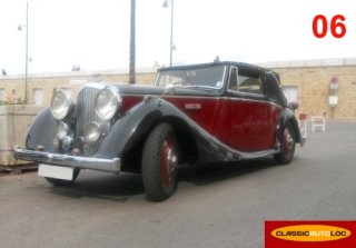 Bentley Cabriolet 1934 Rouge/Noir