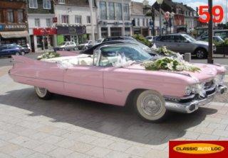 cadillac eldorado 1959 rose - Location Voiture Mariage Haut Rhin