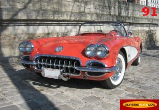 Chevrolet Corvette C1 1958 Rouge