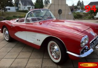Chevrolet Corvette C1 1959 Rouge / Blanc