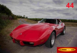 CHEVROLET CORVETTE C3 1976 ROUGE