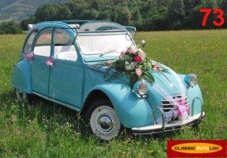 Une location de voiture d capotable de collection pour mariage for Decoration 2cv mariage