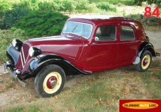 Citroen Traction 1952 bordeaux