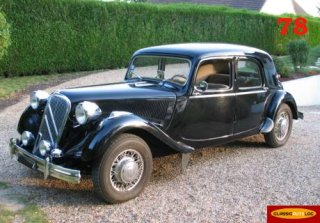 Citroen Traction 6cyl Oléo. 1954 Noire