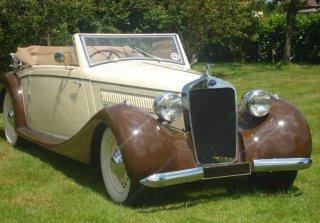 delage d6 70 1937 creme - Location Voiture Ancienne Mariage Pas Cher