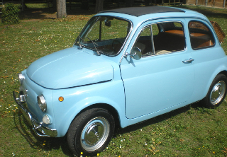 Fiat 500 1970 Aigue marine