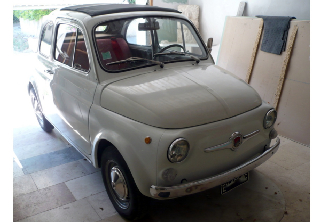 Fiat 500 Abarth  595 replica 1967 Blanc