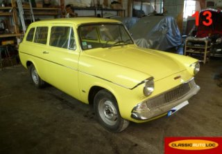 Ford Anglia Break deLuxe 1963 Jaune