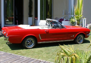 Location Ford Mustang 1964 Rouge