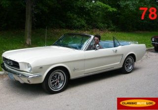 Ford Mustang 1965 blanche