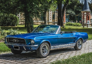Location Ford Mustang 1965 Bleu